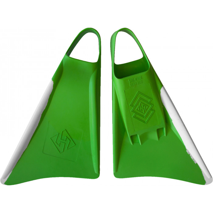 Palmes Hubboards Hubb Fins - Vert/Blanc