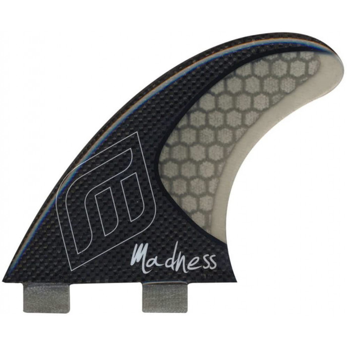 Dérives Madness surf TFH FX2 HoneyComb Carbon 3 pièces Carbon SMOKE