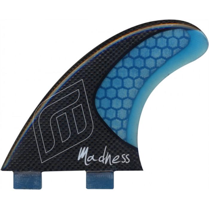 Dérives Madness surf TFH FX2 HoneyComb Carbon 3 pièces Carbon BLUE