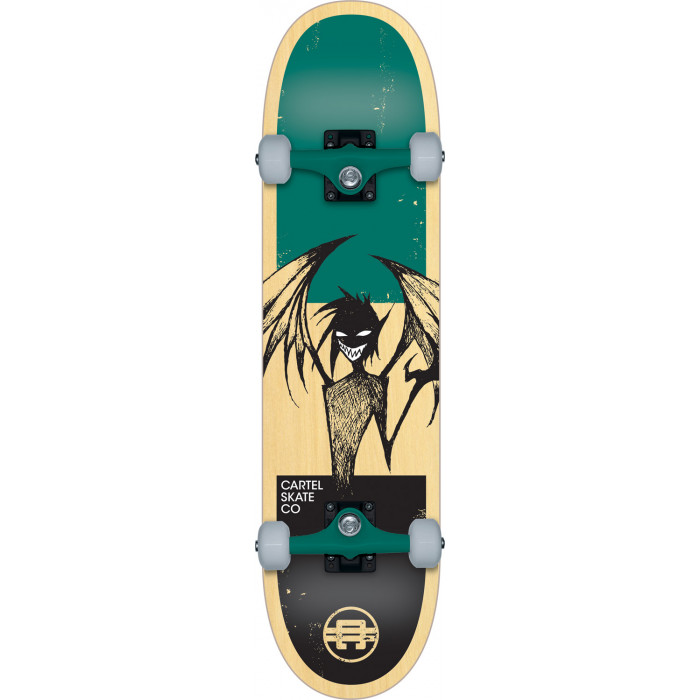 SKATE COMPLET ENFANT CARTEL 7.5 DEMON TEAL
