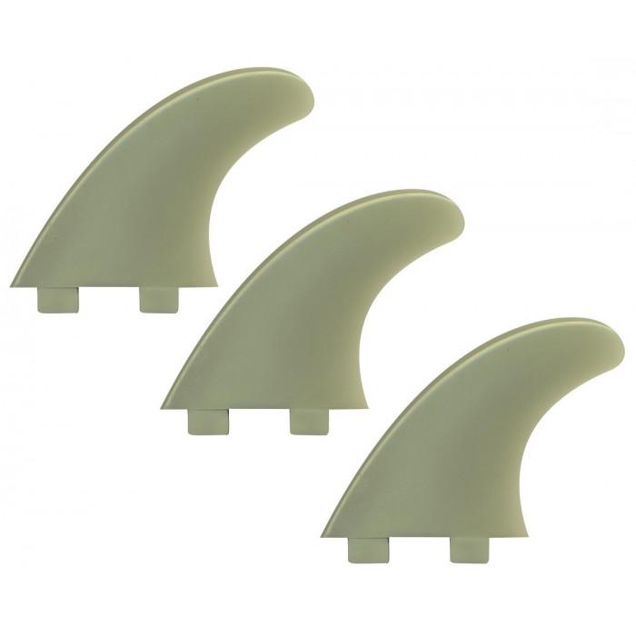 """Dérives Madness surf PVC FX2 HAUTEUR 4"""" 3 pièces CLAIR"""