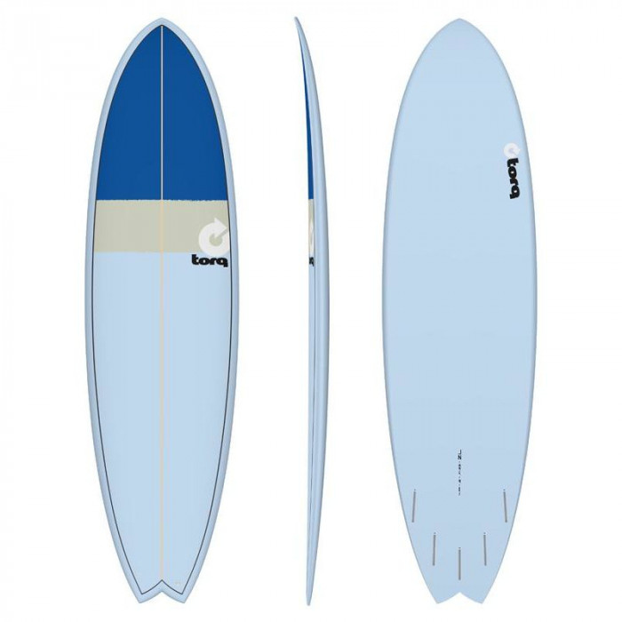 "PLANCHE DE SURF 7'2"" NEW CLASSIC TORQ EPOXY FISH BLUE/SAND/BLUE"