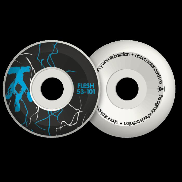 ROUES SKATEBOARD FLESH AGENCY BLACK/BLUE