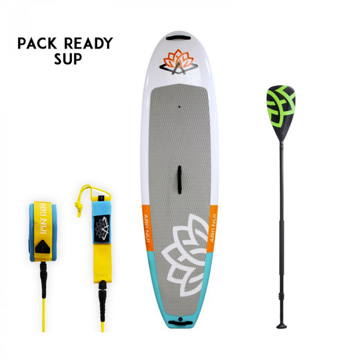 PACK READY SUP PROCESSOR + LEASH & PAGAIE ARI INUI