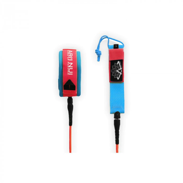 "LEASH ARI'INUI SUP GENOUX STRAIGHT 9'0"" RED/BLUE"