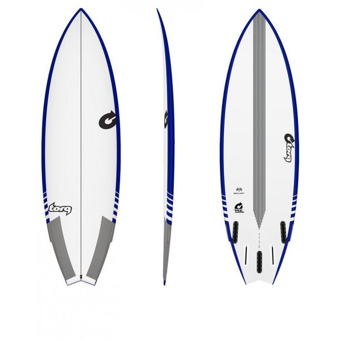 "Planche de surf 5'8"" GOKART TORQ TEC EPOXY FISH Blue/White"