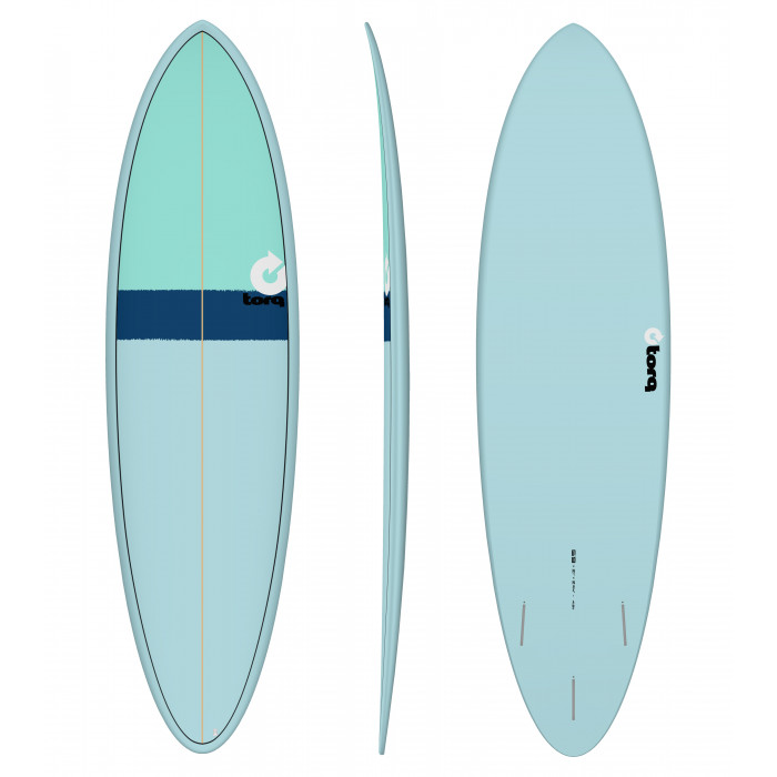 """PLANCHE DE SURF 6'8"""" NEW CLASSIC TORQ EPOXY FUNBOARD BLUE/NAVY BLUE/SEAGREEN"""