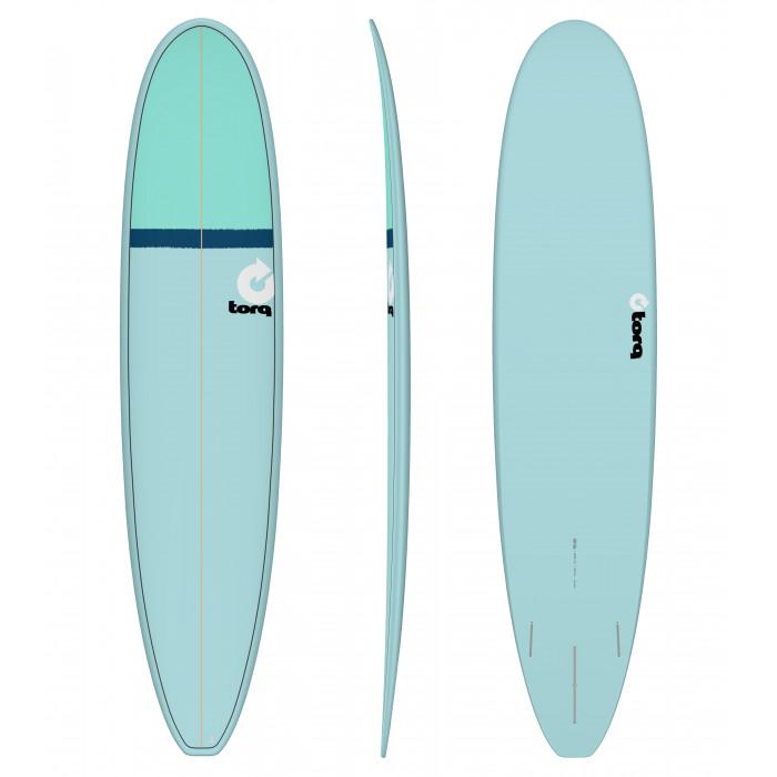"""PLANCHE DE SURF 8'6"""" LONG TORQ EPOXY LONGBOARD BLUE/NAVY BLUE/SEAGREEN"""