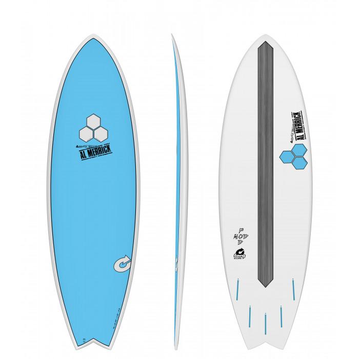 "PLANCHE DE SURF TORQ 5'10"" POD MOD XLITE CHANNEL ISLAND BLUE EPOXY"