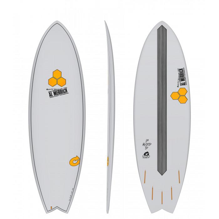"PLANCHE DE SURF TORQ 5'6"" POD MOD XLITE CHANNEL ISLAND GRAY EPOXY"