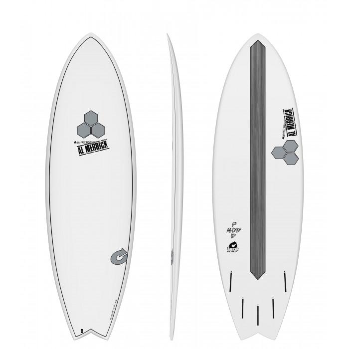 "PLANCHE DE SURF TORQ 5'10"" POD MOD XLITE CHANNEL ISLAND WHITE EPOXY"