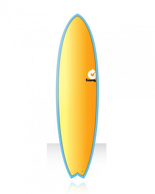 "Planche de surf TORQ 7'2"" FISH Fade blue yellow orange"