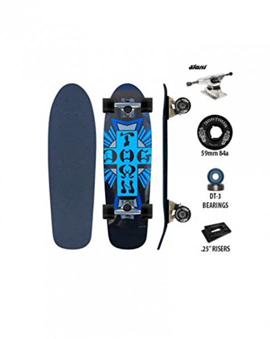 Skate complet DOGTOWN DGxST MINI CROSS Black/Blue 7.5""