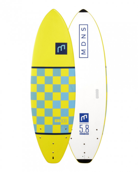 "Planche de surf Madness Soft Checker 5.8"" Yellow/lite Blue"