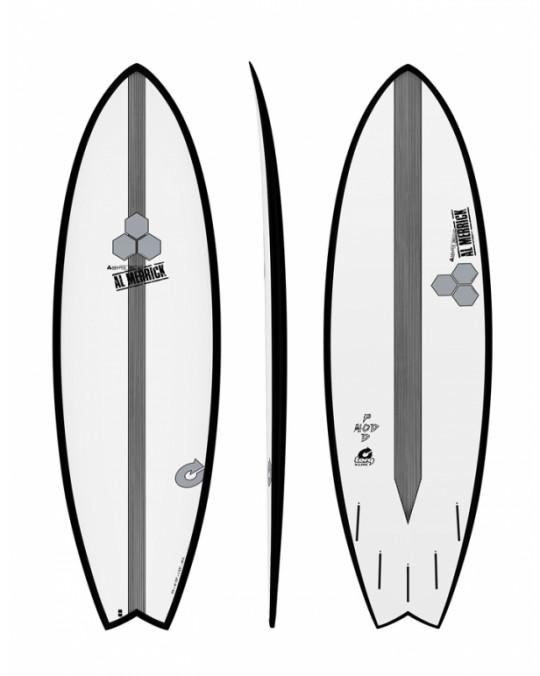 "Planche de surf TORQ 6'2"" POD MOD XLITE CHANNEL EPOXY island Black Rail"