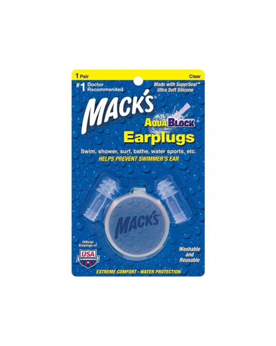 Bouchons d'oreilles AQUABLOCK 1 pair MACK'S