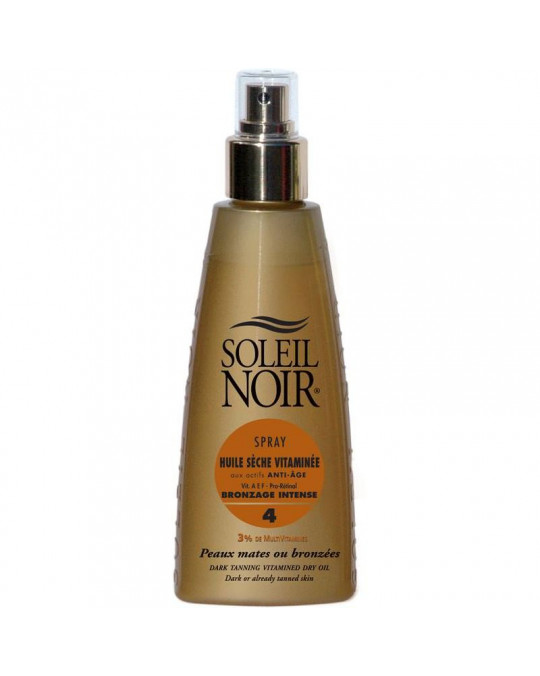 Huile sèche 4 spray vitamine SOLEIL NOIR