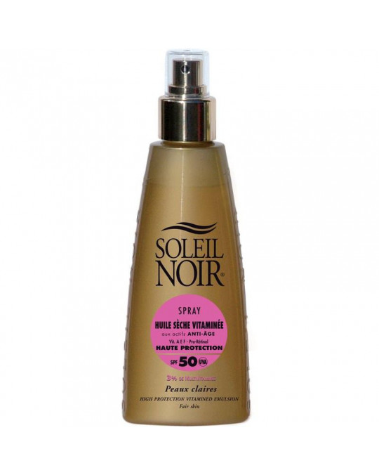 Huile sèche 50 spray vitamine SOLEIL NOIR