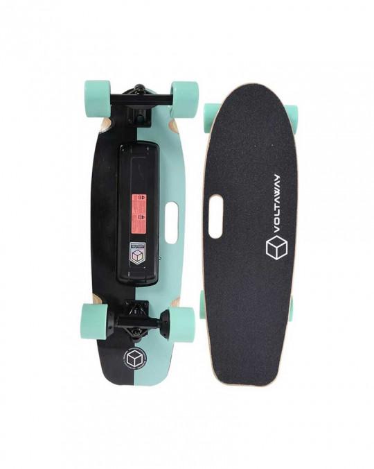 """Skate Electrique GOOBER 28 VOLTA E-SKATE w/handle 28"""" Aqua"""