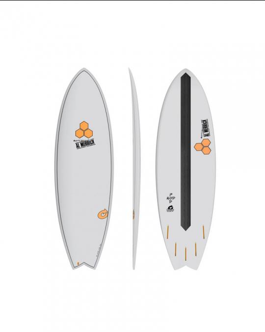 "Planche de surf TORQ 5'6"" POD MOD XLITE CHANNEL EPOXY island white"