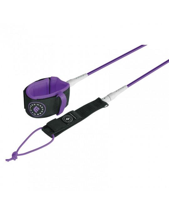 Leash MADNESS cheville 8' LONG UNLIMITED 7MM purple