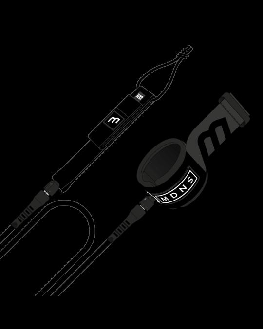Leash MADNESS LONG LEASH ANKLE 9'0 7mm Black