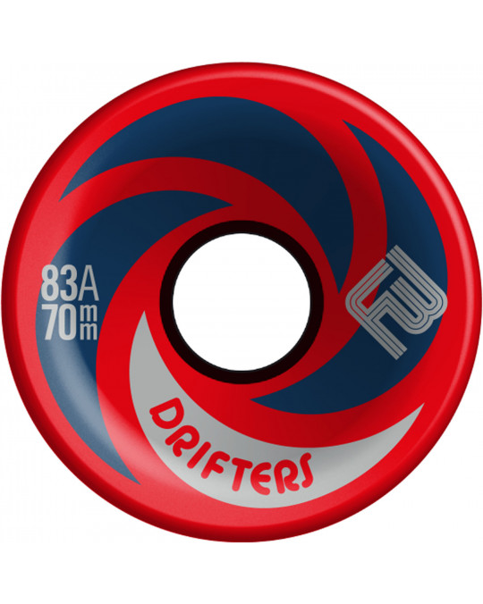 Roues longskate FLYING WHEELS DRIFTERS 70 red