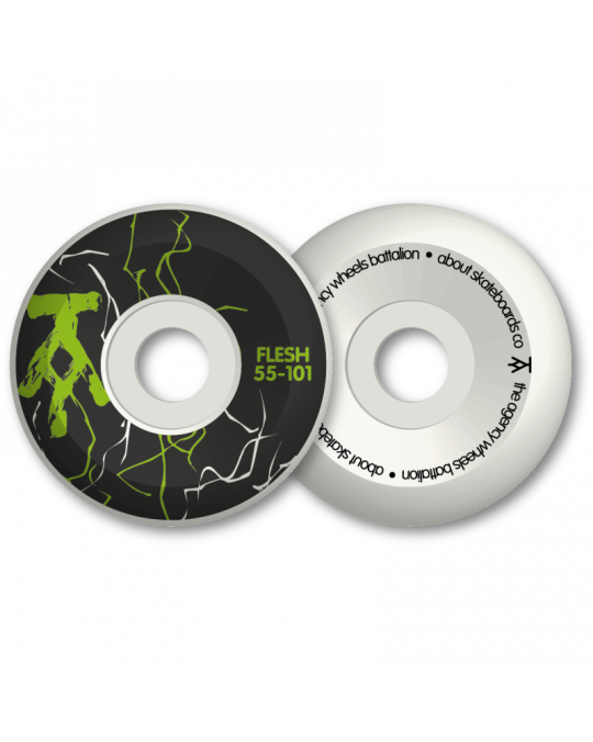 Roues skateboard FLESH AGENCY black/green