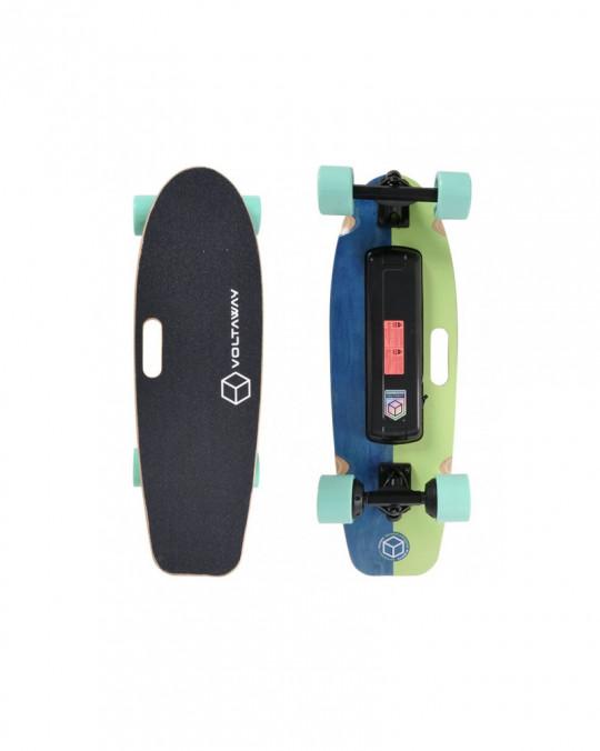 """Skate Electrique GOOBER 28 VOLTA E-SKATE w/handle 28"""" Pistache"""