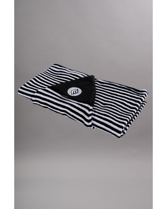 "Housse de surf stretch 6'2"" Shortboard MADNESS White/Black stripes"