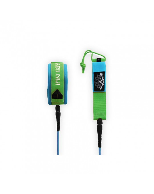 "Leash ARI'INUI SUP genoux straight 9'0"" Blue/Green"