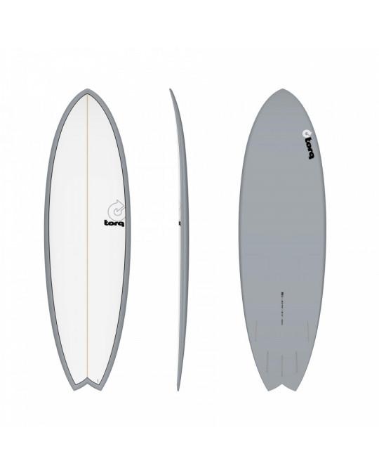 """Planche de surf Torq 5'11"""" FISH GRAY PINLINE"""
