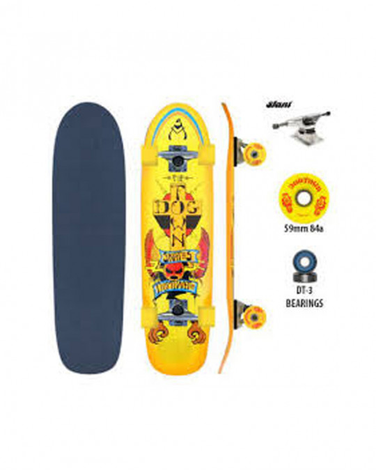 Skate complet DGxST CRUISER MINI DOMINATE Yellow/Orange/Red 7.75""