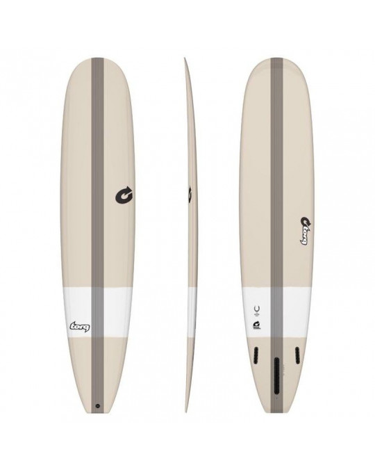 "Planche de surf 9'3"" Torq Epoxy Longboard Horseshoe Stone White"