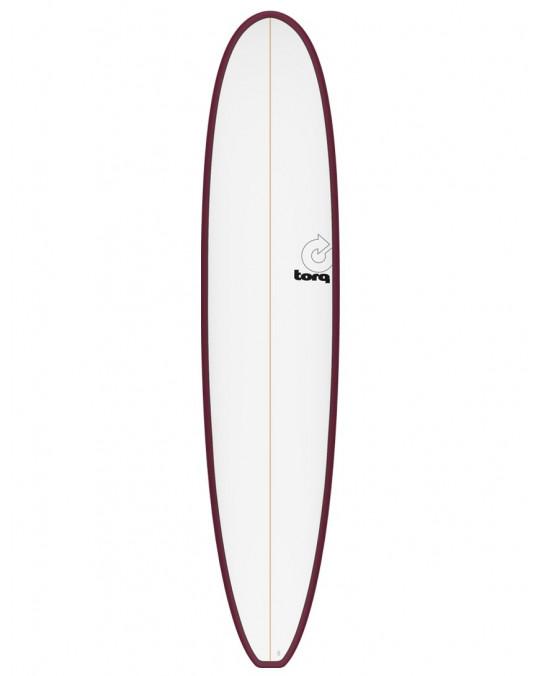 "Planche de surf TORQ 9'0"" MALIBU PINLINE white/Burgundy"