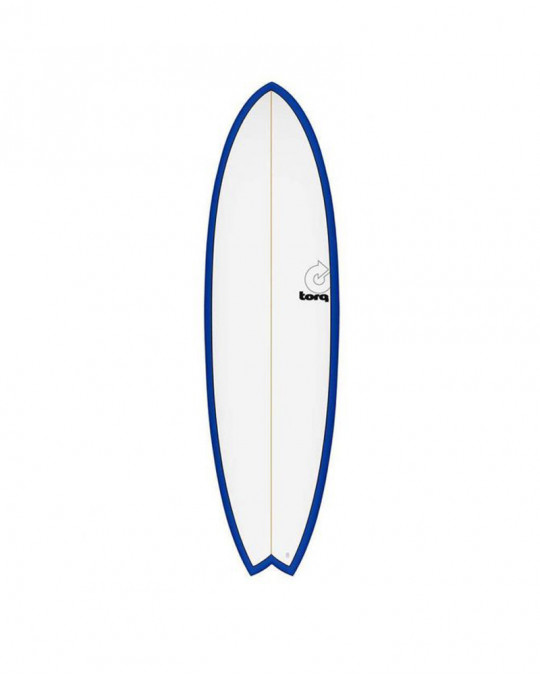 "Planche de surf 6'3"" NEW CLASSIC TORQ EPOXY FISH white/navy blue"