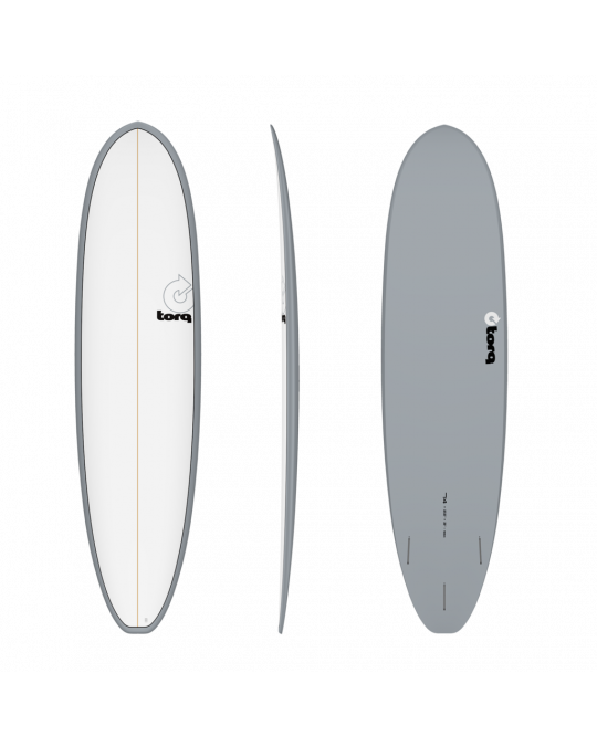 Planche de surf TORQ MOD FUN 7'4 V+ PINLINE WHITE/GRAY