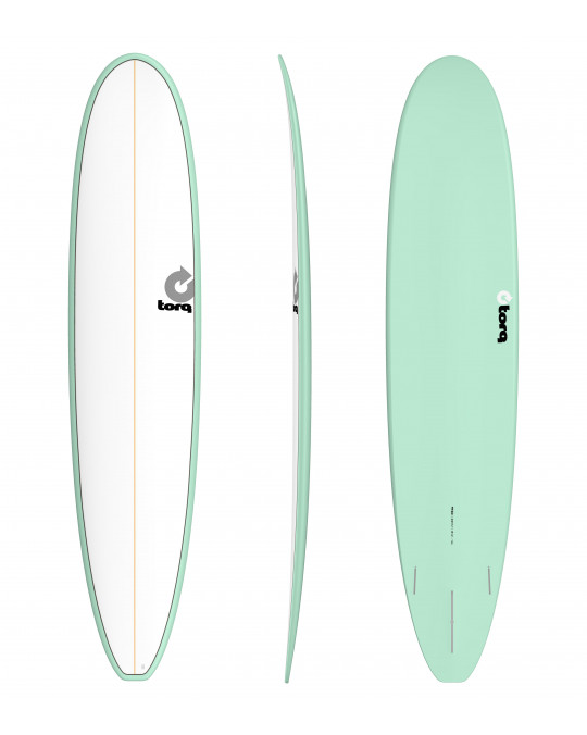 "Planche de surf TORQ 9'0"" MALIBU PINLINE white/seagreen"