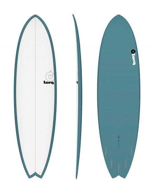 "Planche de surf TORQ 7'2"" PINLINE FISH white/Green"