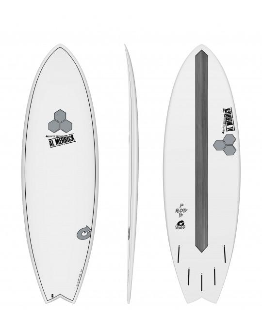 "Planche de surf TORQ 5'10"" POD MOD XLITE CHANNEL EPOXY island white"