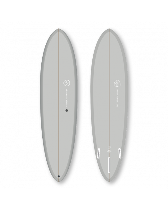 Planche de surf VENON EGG 7'6 Pastel Cool Grey