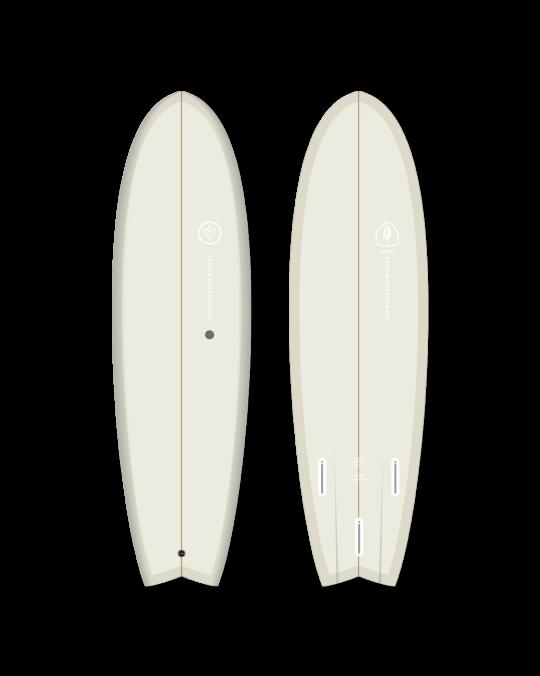 """Planche de surf VENON SPECTRE FISH 6'3"""" Pastel Cream"""