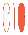 "PLANCHE DE SURF TORQ 7'6"" FUNBOARD PINLINE WHITE/RED EPOXY"